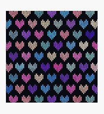 Colorful Knitted Hearts VIII Photographic Print