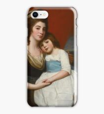 George Romney PORTRAIT OF LADY GEORGIANA SMYTH (CIRCA ) AND HER SON iPhone Case/Skin