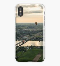 Hot Air Balloons Flying Over Saint-Jean-sur-Richelieu in Quebec Canada iPhone Case/Skin