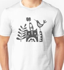 The Cat And the Vase Unisex T-Shirt