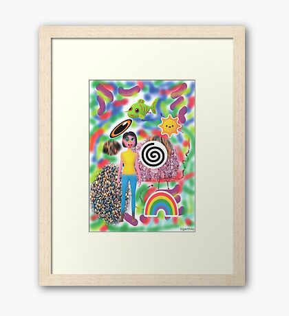 2306 - Bright Colorful Worldviews Framed Print