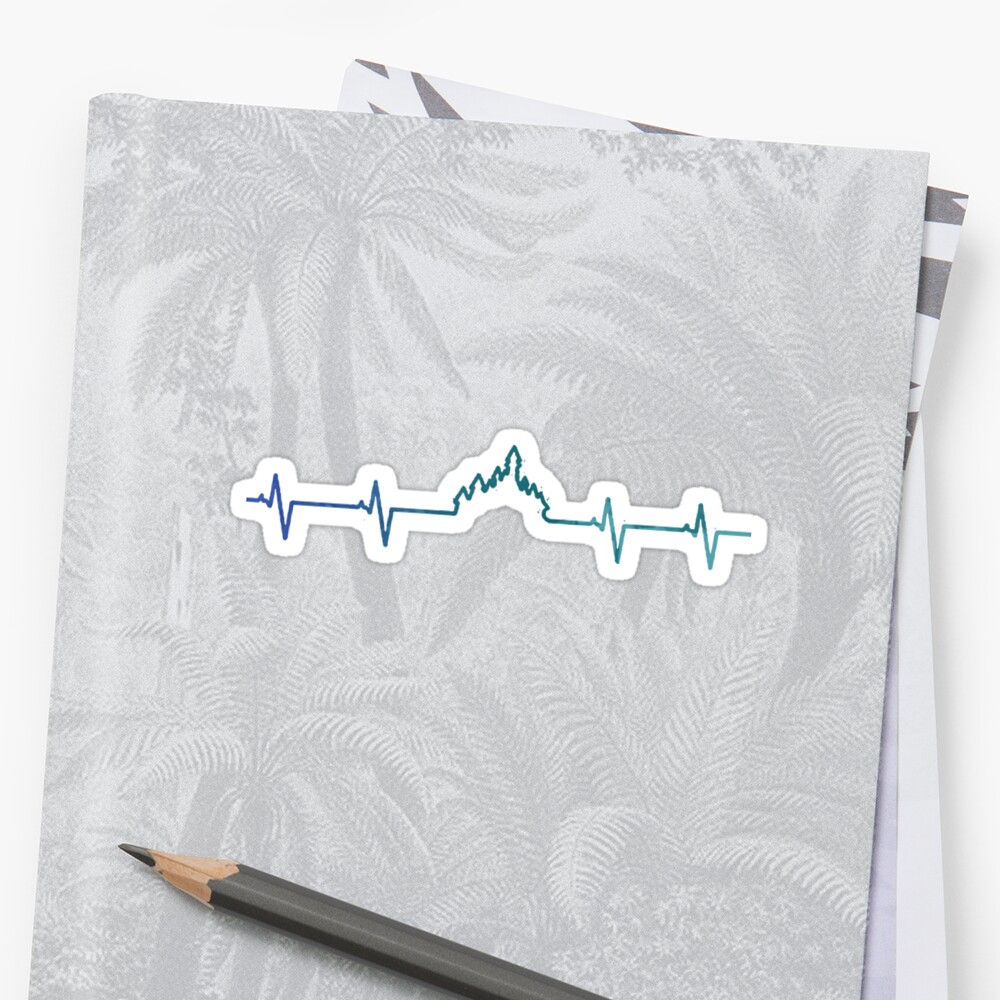 Heart Rate Inspired Silhouette Sticker