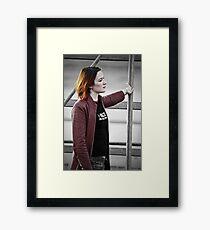 Lean on me. Framed Print