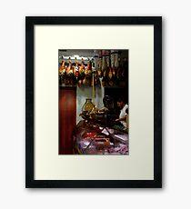 Meat Shop Framed Print