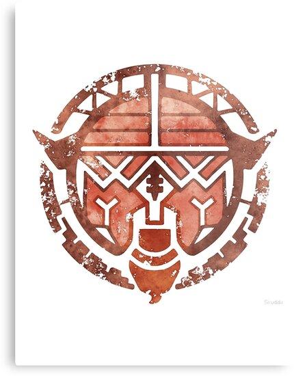 Tapu Bulu Symbol Pokemon Sun Moon Metal Prints By Srwhiteps