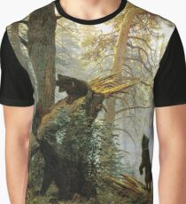 Morning in the Pine Forest Graphic T-Shirt