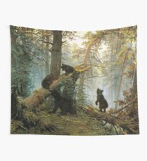 Morning in the Pine Forest Wall Tapestry