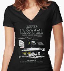 Bates Motel - Night Shift Women's Fitted V-Neck T-Shirt
