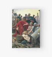 Vercingetorix Throws Down His Arms At The Feet Of Julius Caesar Hardcover Journal