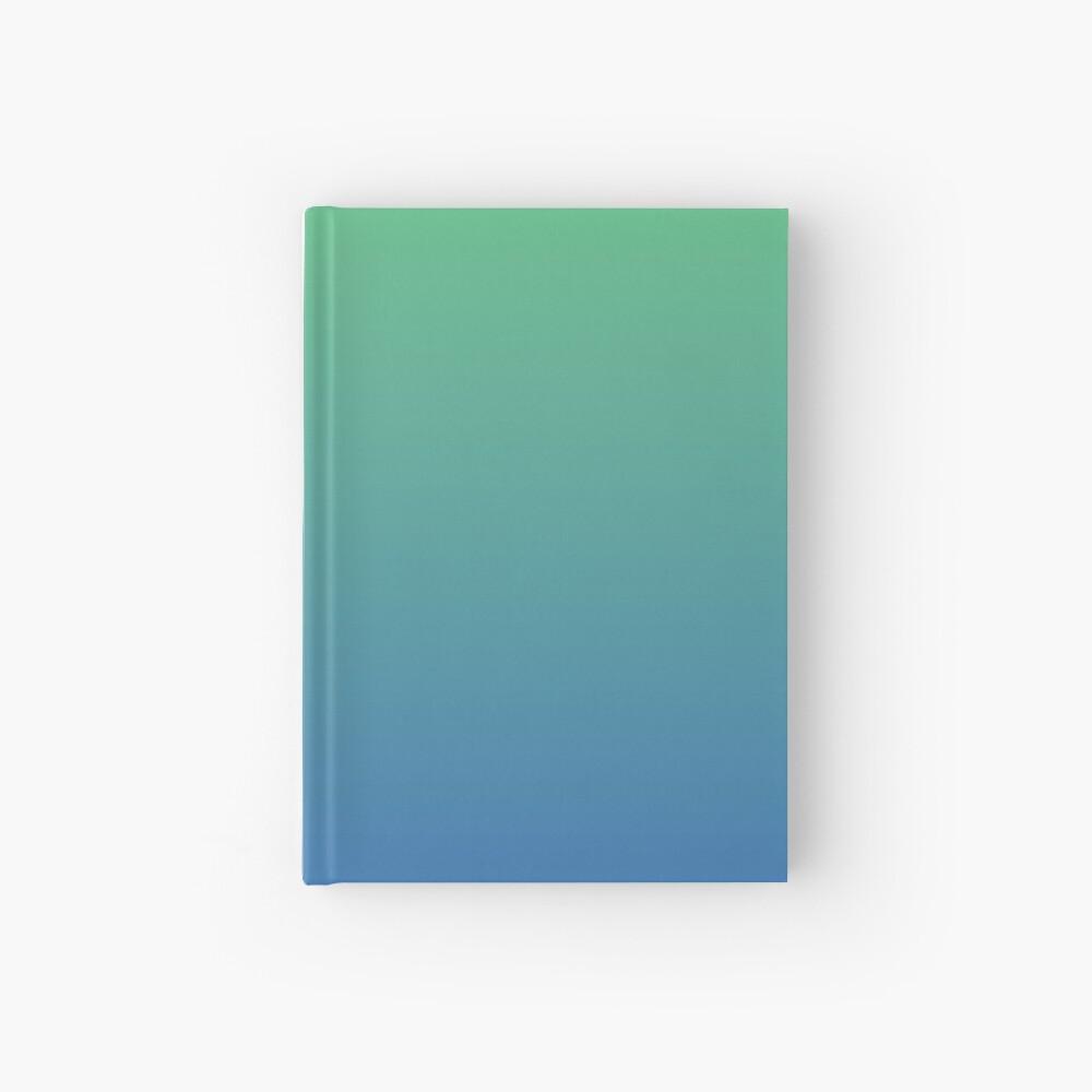 Blue, green gradient. Ombre. Hardcover Journal