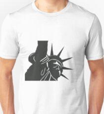New York - Statue of liberty - in linocut T-Shirt