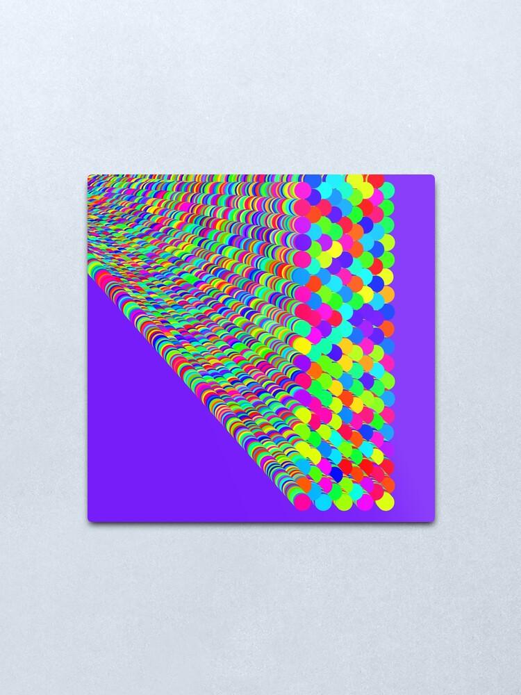 Alternate view of Random colors Metal Print