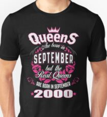 Queens Are Born In September 2000 T-Shirt