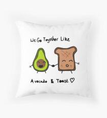 Avocado and Toast Throw Pillow