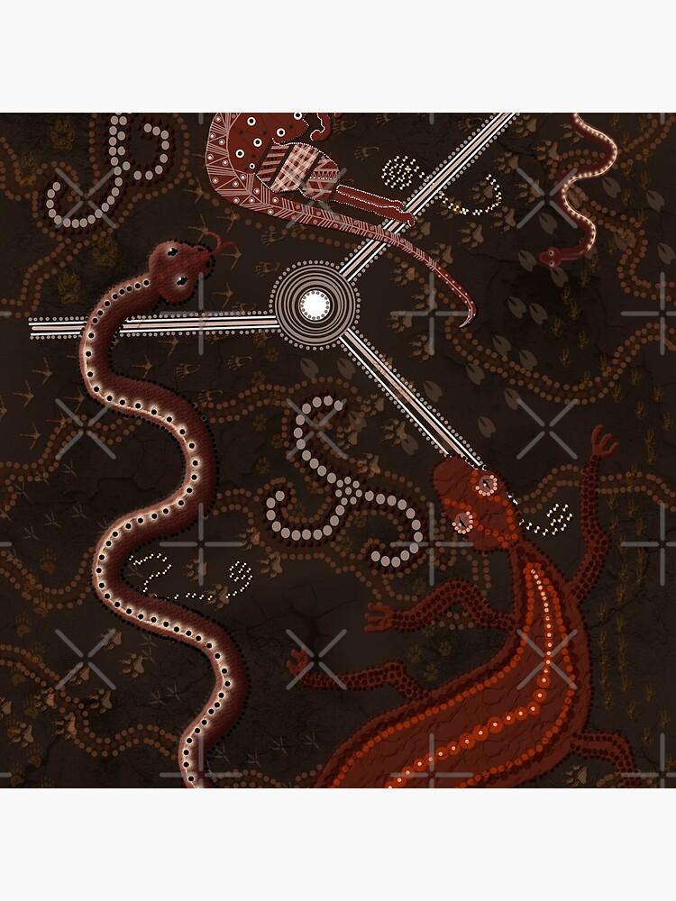 3 Billabongs - Aborigine Styled Art von RavenPrints