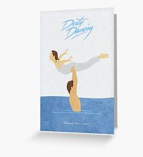 Dirty Dancing Alternative Minimalist Movie Poster Greeting Card