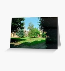 In Sidney Sussex College Gardens, Cambridge Greeting Card