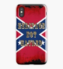 Heritage, Not Hatred - Confederate Flag iPhone Case/Skin