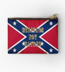 Heritage, Not Hatred - Confederate Flag Studio Pouch