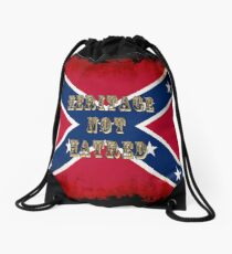 Heritage, Not Hatred - Confederate Flag Drawstring Bag