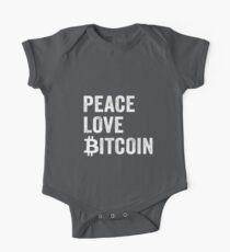 Friedensliebe Bitcoin Baby Body Kurzarm