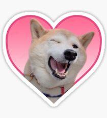 Doggo Stickers: Winking Shibe. Sticker
