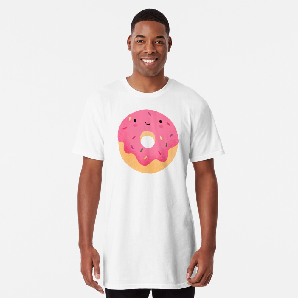 Glücklicher Donut Longshirt