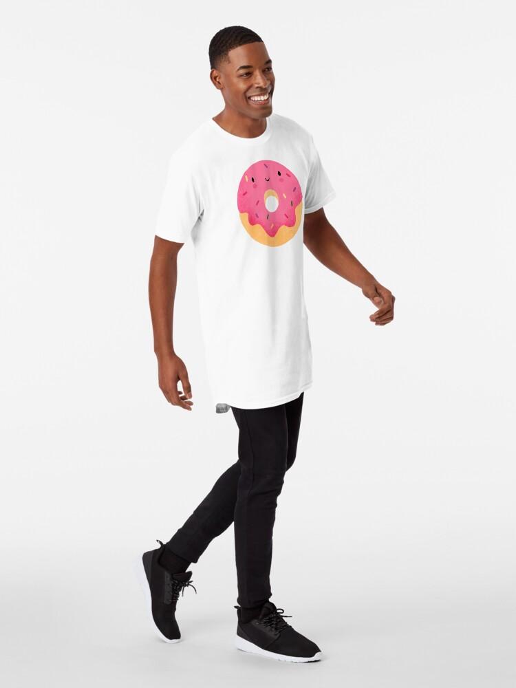 Alternative Ansicht von Glücklicher Donut Longshirt