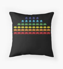 """SPACE INVADERS"" Video Game Lovers Vintage Throw Pillow"
