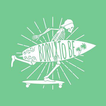 Skeleton Surfer by Fmgt