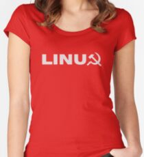Communist Linux Tee Women's Fitted Scoop T-Shirt