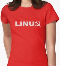 Communist Linux Tee Women's Fitted T-Shirt