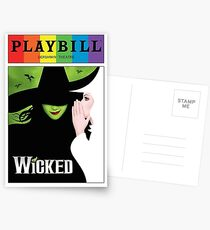 wicked  pride playbill Postcards