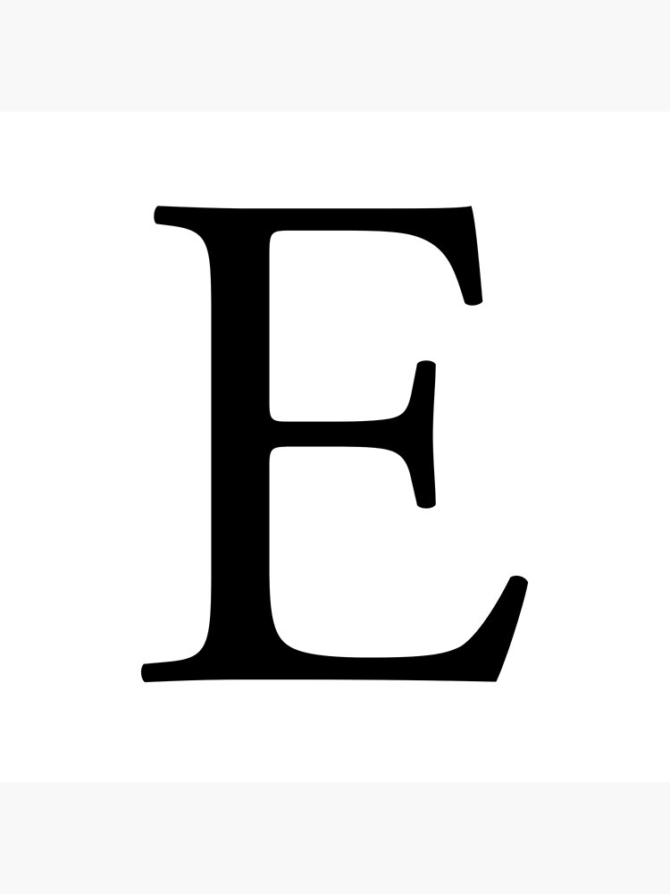 E, Alphabet, Letter, Eee, Emily, Eric, Echo, Easy, A to Z, 5th Letter of  Alphabet, Initial, Name, Letters, Tag, Nick Name | Tote Bag
