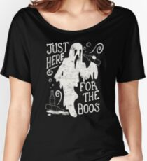 Halloween Just Here For The Boos Funny Halloween Party Women's Relaxed Fit T-Shirt
