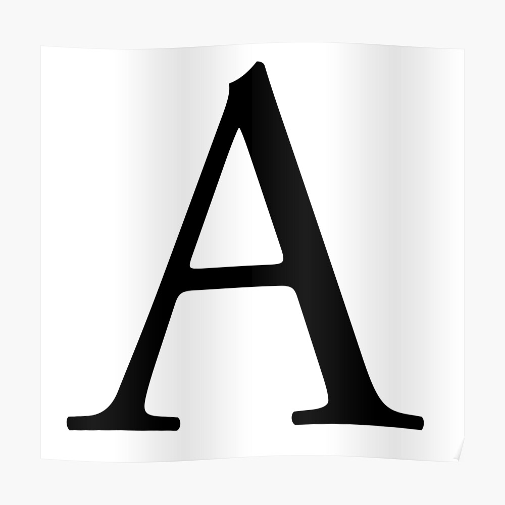 A, Alphabet, Letter, A to Z, Alpha, Adam, Aaron, 1st Letter of Alphabet,  Initial, Name, Letters, Tag, Nick Name | Poster