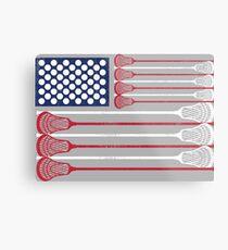 Vintage Flag > US Flag Made of Lacrosse Balls + Bats > Laxing Metallbild