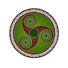 Green Red n Blue Celtic Trikell by Antony Potts