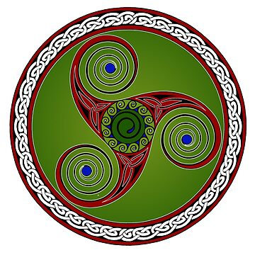 Green Red n Blue Celtic Trikell by potty