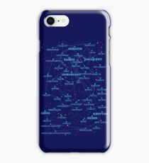 Sci-fi star map iPhone Case/Skin