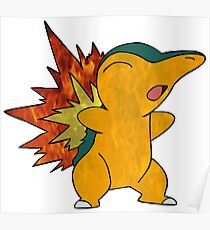 Fire Cyndaquil Poster