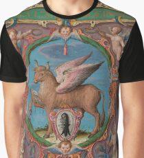 Evangelist portrait of St. Luke in a medieval illuminated manuscript Graphic T-Shirt
