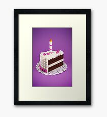 Let Them Build Cake Framed Print