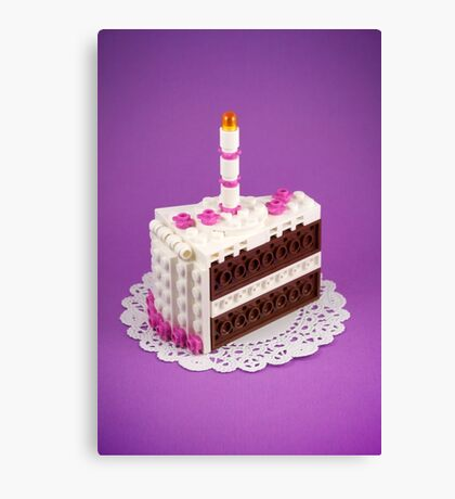 Let Them Build Cake Canvas Print