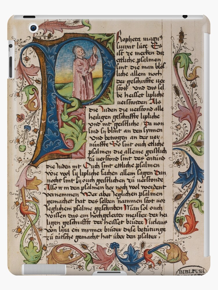 Quot Initial P In A Medieval Illuminated Manuscript Quot Ipad Case