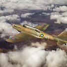 Fairey Battle in flight by Gary Eason