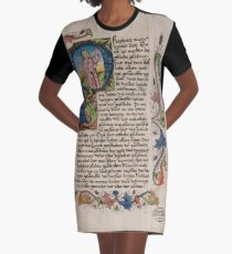 Initial P in a medieval illuminated manuscript Graphic T-Shirt Dress