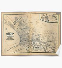 Vintage oakland map posters redbubble alameda 1884 poster publicscrutiny Image collections