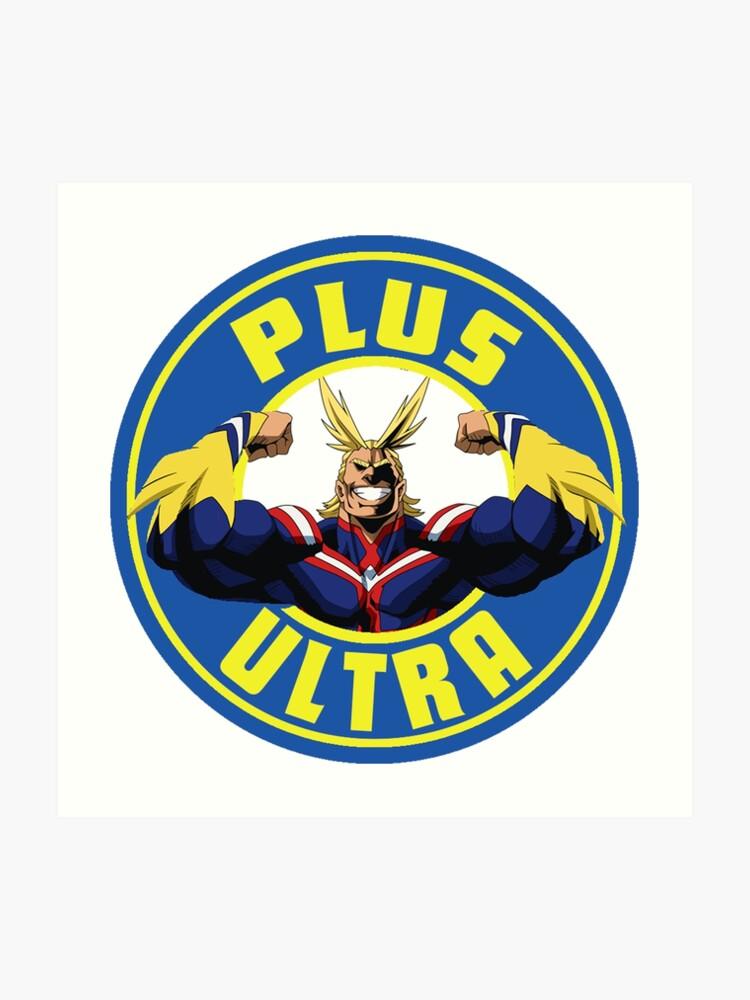 Boku No Hero Academia All Might Plus Ultra Starbucks Logo Art Print
