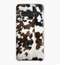 Funda/vinilo para Samsung Galaxy Piel de vaca color canela, blanco y negro   Textura